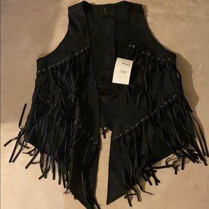 Vest with fringe